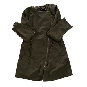 Ambiance Olive Green Asymmetrical Light Jacket